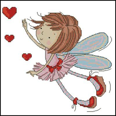 Enamored fairy схема вышивки крестиком