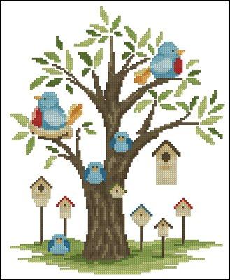 Птички вышивка крестом схемы скачать