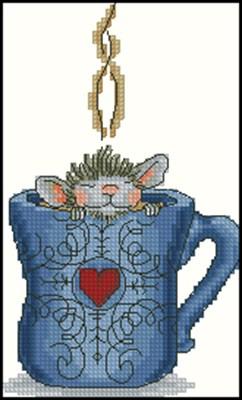 Мышонок в кружке вышивка крестом скачать схему