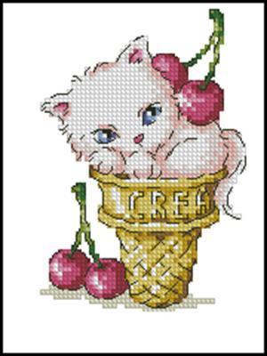 Любительница мороженого вышивка крестом схема вышивки