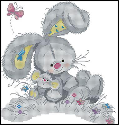 Друзья (зайка + мышка)