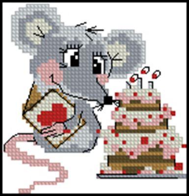 Мышка и тортик