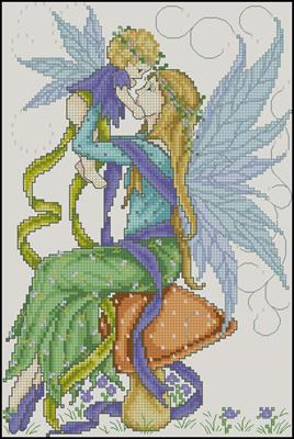 Fairy mother & child схема вышивки крестиком