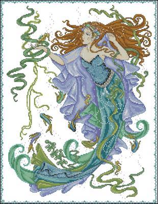 Sea Goddess схема вышивки крестом