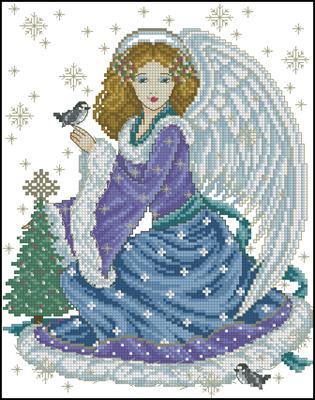 Snow angel схема вышивания