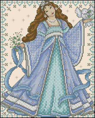 Snow Princess схема вышивка скачать