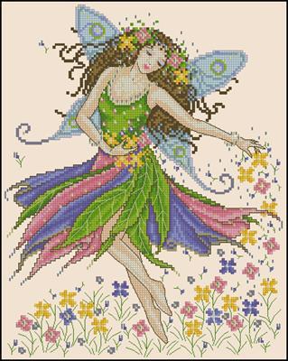 Spring garden fairy схема для вышивки крестиком
