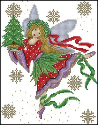 Sugarplum fairy схема вышивки крестиком