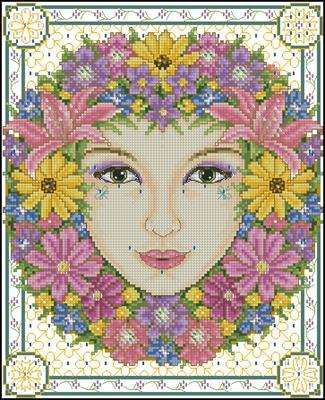 Summer goddess схема вышивки