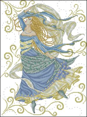 Богиня воздуха схема вышивки крестом