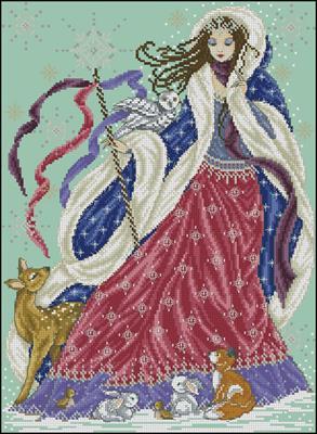 Снежная королева бесплатно схема вышивки