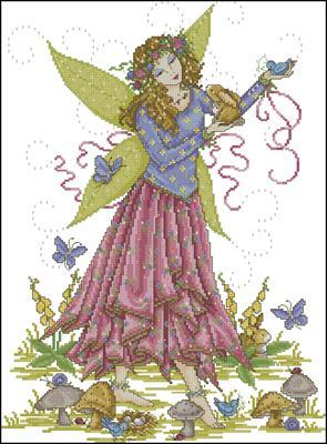 Фея весны схема вышивки крестиком