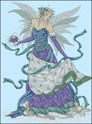 Фея зимы схема вышивки крестиком скачать