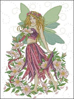 Фея роз схема вышивки