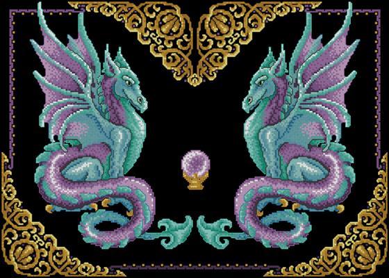 Мистические драконы схема