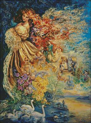 Dress of Day Dreams схема вышивки крестиком