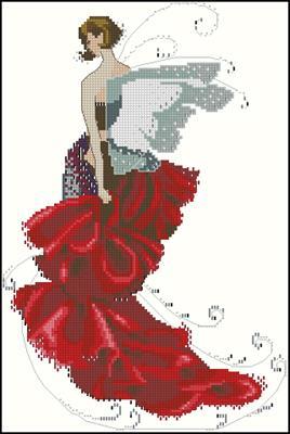 Pixie couture Poppy вышивка крестом схема