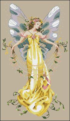 Adia, The Garden Fairy вышивка крестом