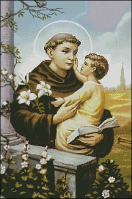 Монах с Иисусом схема вышивки крестом