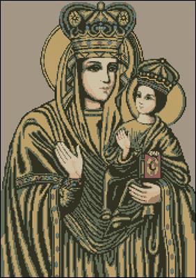 Зарваницкая Богородица схема вышивки