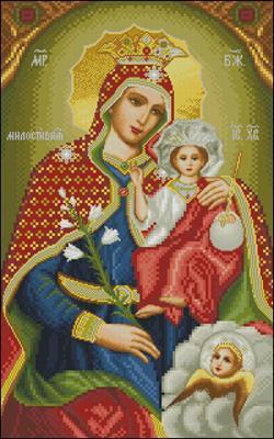 Св. Богородица Милостивая схема вышивки крестиком