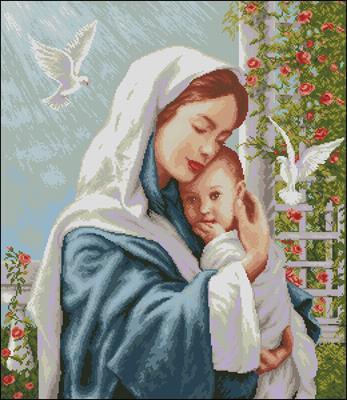 Материнская любовь схема вышивки крестиком
