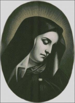 Дева Мария схема вышивки крестом скачать бесплатно