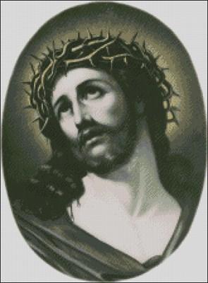 Иисус Христос схема вышивки крестом скачать бесплатно