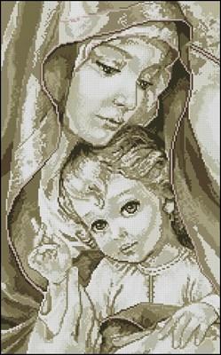 Мадонна с младенцем (сепия)