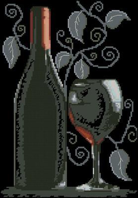 Sticla cu vin крестиком схема вышивки