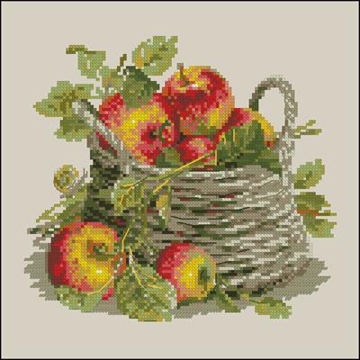 Спелые яблоки вышивка крестиком
