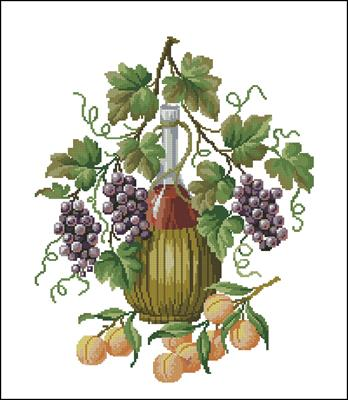 Натюрморт с вином схема вышивка