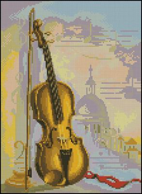 Зарисовка со скрипкой вышивка схема скачать