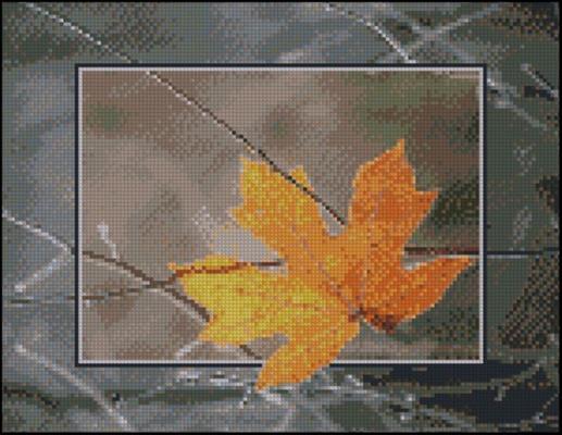 Кленовый листик схема вышивки крестом