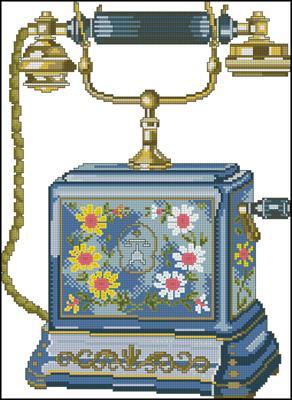 Telephone схема вышивки