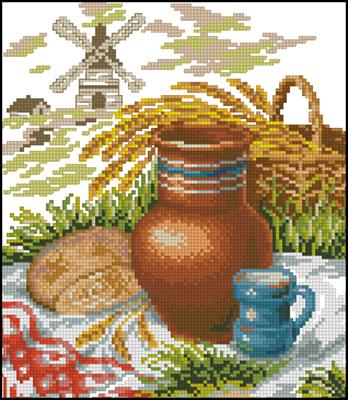 Схемы вышивка крестом хлеб