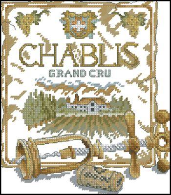 Chablis схема вышивки крестиком