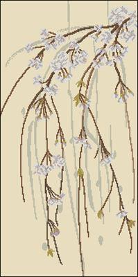 Apple Blossoms схема вышивки крестиком