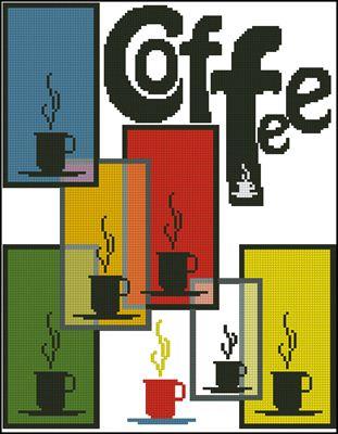 Aroma of coffee вышивка схема