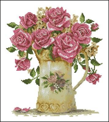 Античная ваза цветов схема вышивки скачать бесплатно