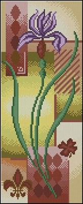 Панно с цветком скачать схему вышивки крестом