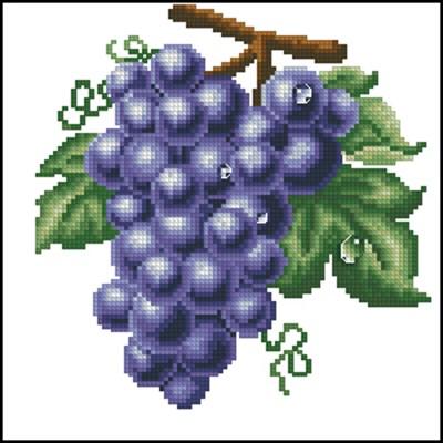 Спелая гроздь вышивка крестом схема скачать