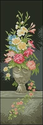 Bukiet kwiatów kolejny prezent ślubny вышивка крестом схема