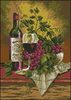 Martwa Natura - Wino вышивка крестом