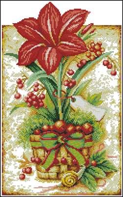 Vintage Lily вышивка крестиком