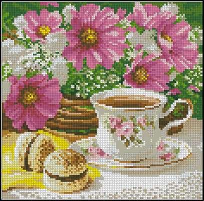 Утренний чай вышивка крестиком
