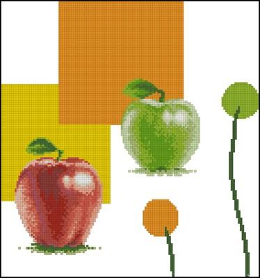 Яблоки вышивка крестом