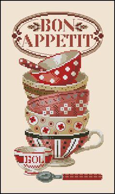 """Torchon """"Bon appetit"""" схема вышивки"""