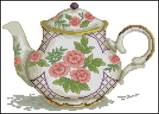 Чайник схема вышивки крестом