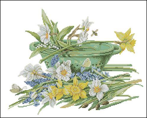 Цветы лилии - натюрморт
